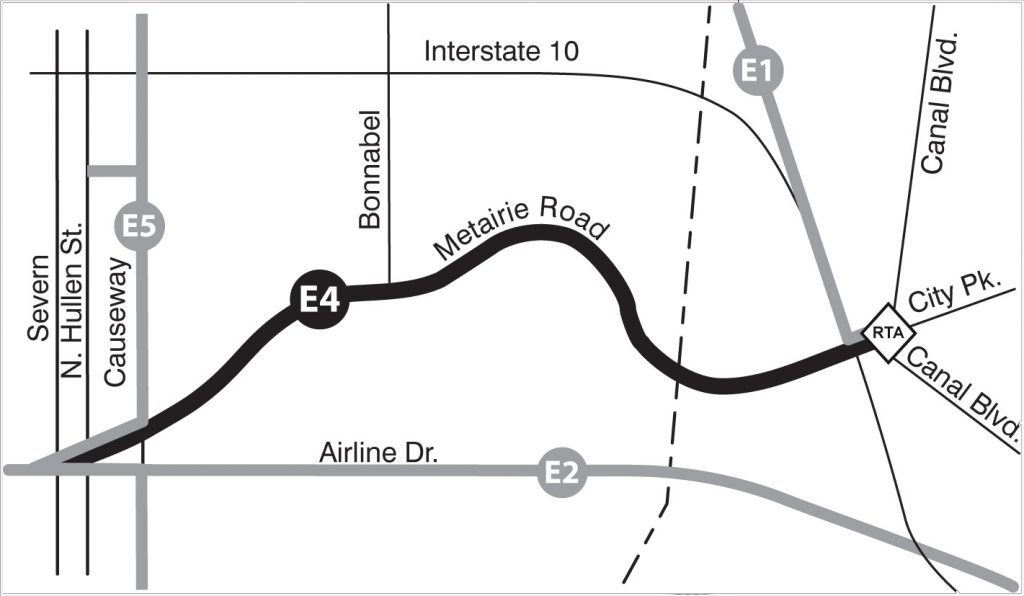 E4 Metairie Rd. map