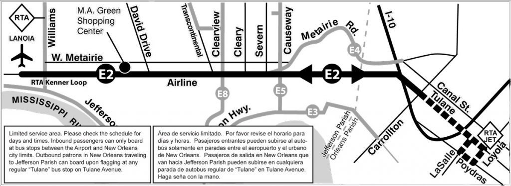 E2 Airport map